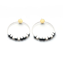 Circle Earrings - Large, post KS03E