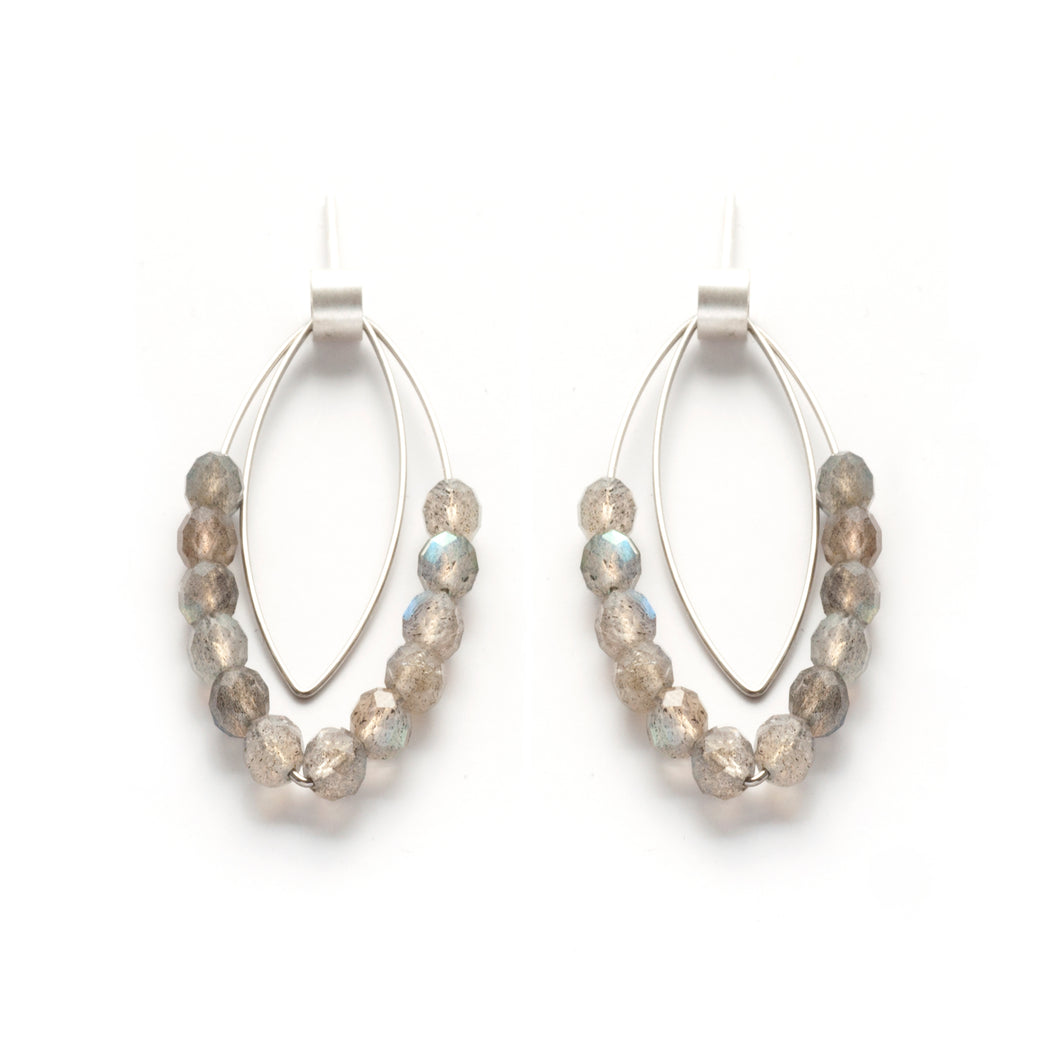 KS25PE - Double Marquise Earrings, posts
