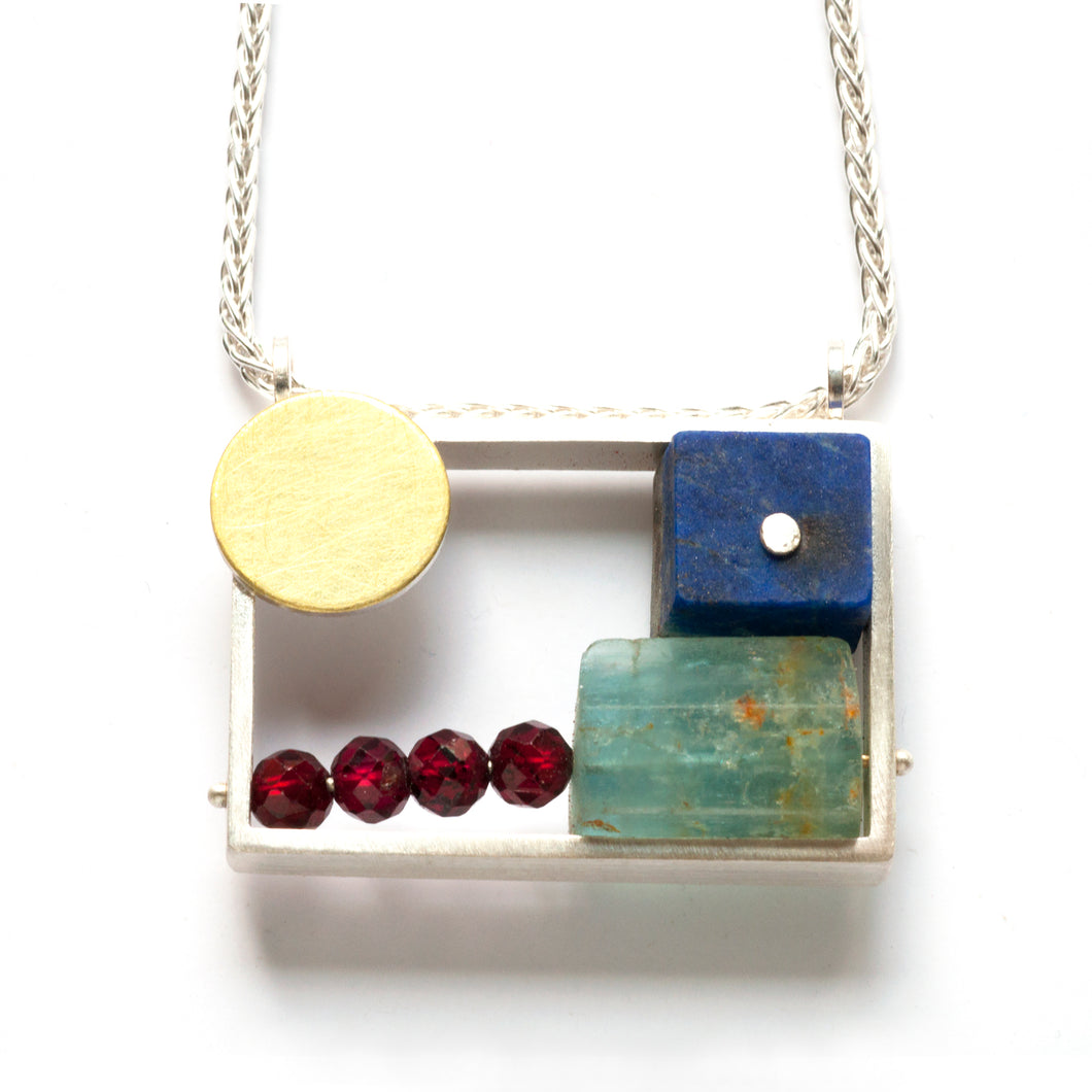 Horizontal Bento Necklace LR32N