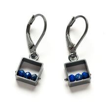 MJ03E - Mini Square Earrings, Leverbacks