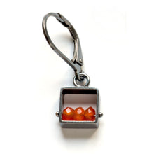 Mini Square Earrings, Leverbacks MJ03E