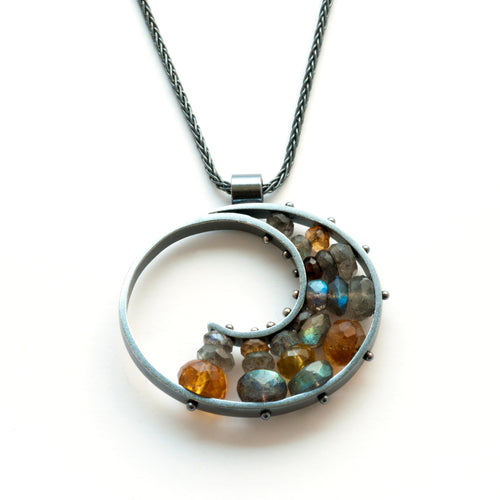Large Spiral Necklace