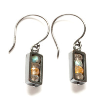Vertical Rectangle Earrings, dangle