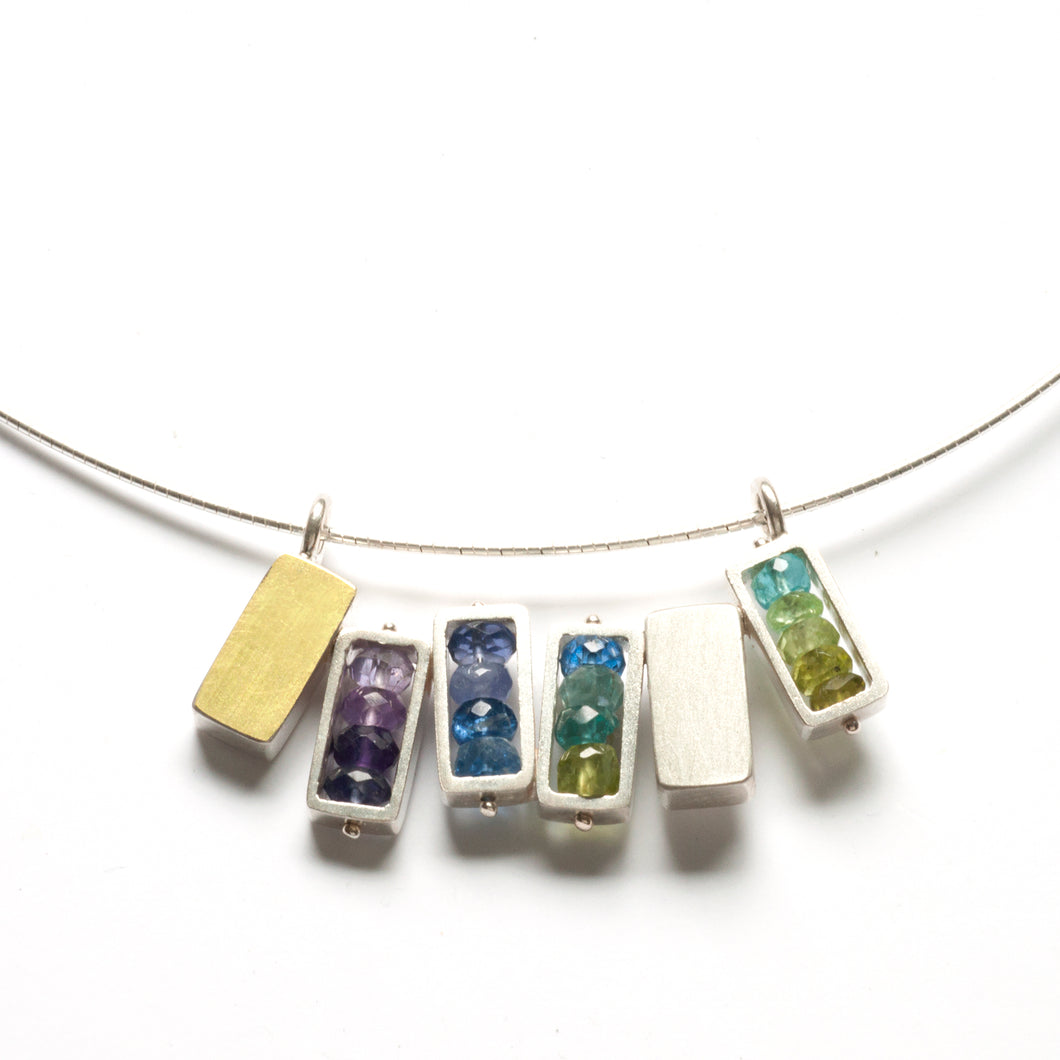 Six Rectangles Necklace - Horizontal RJ06N