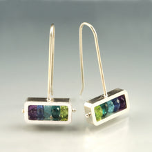 Horizontal Rectangle Earrings RJ10HE