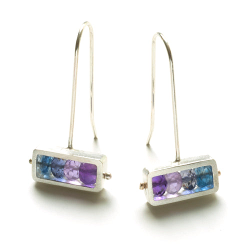Horizontal Rectangle Earrings