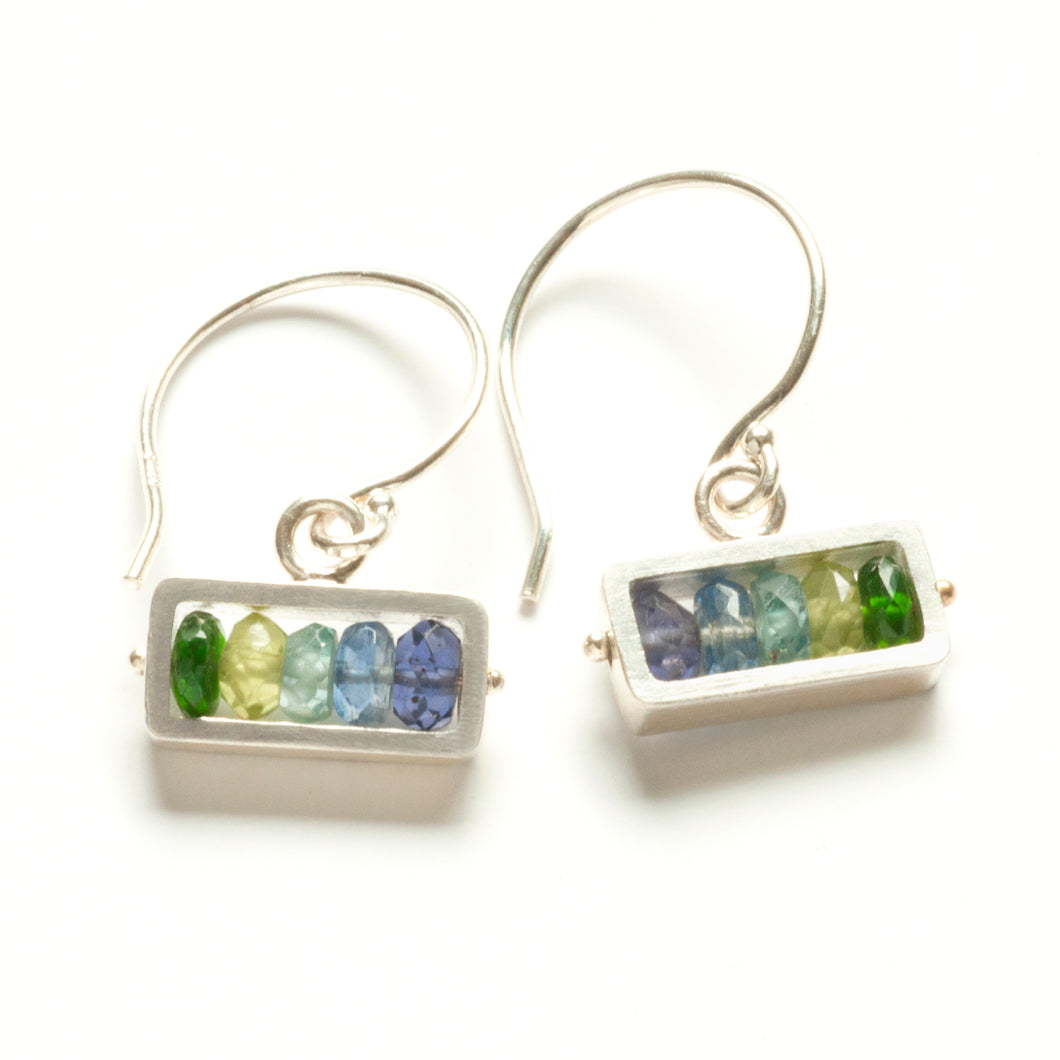Horizontal Rectangle Earrings, dangle