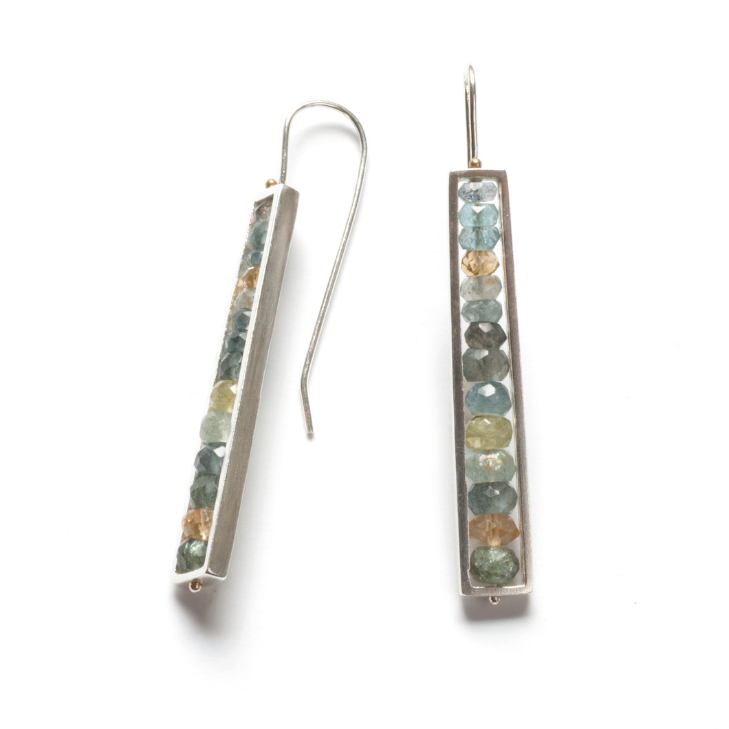 Long Rectangle Earrings, French Wires RS01LE