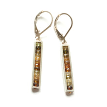 Skinny Rectangle Earrings, Leverback