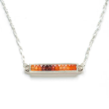 RT01HN - Skinny Rectangle Necklace, horizontal