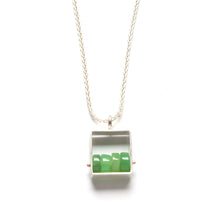 SRJ11N - Rectangle Necklace with Chunky stones