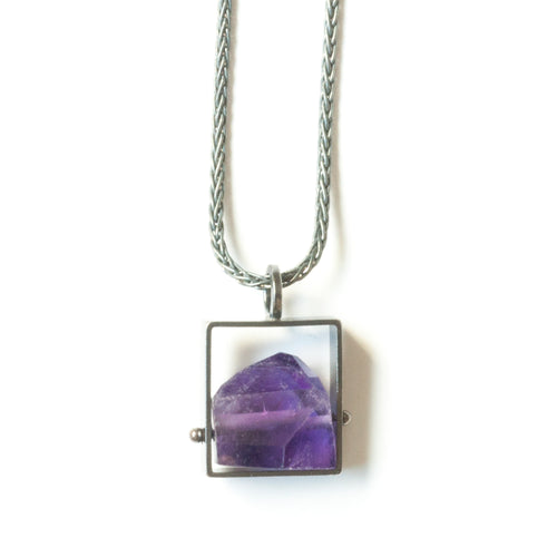 Rectangle Necklace with Chunky stones