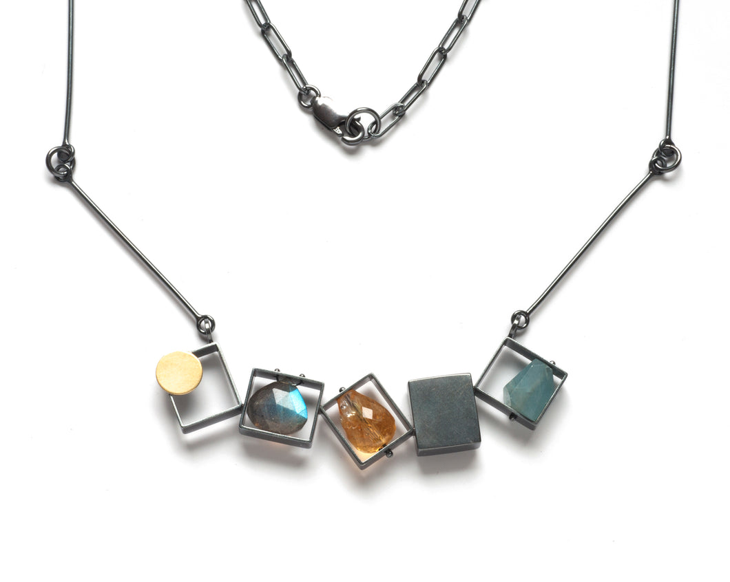 Five Rectangles Necklace SRJ15N