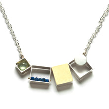 Three Rectangles/One Square Necklace