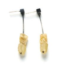 TP02PE - Long Drop Earrings with chunky stones, post