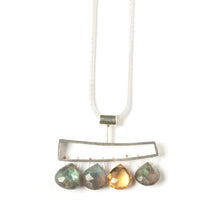 WH04N - Horizontal Wedge Necklace with Facetted Briolettes