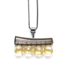 Horizontal Wedge Necklace with Facetted Briolettes WH04N