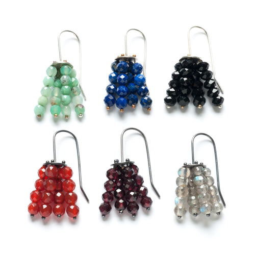 YD01E - Beaded Cluster Earrings