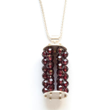 Beaded cage necklace, small