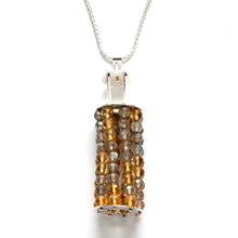 Vertical Beaded cage necklace, Large