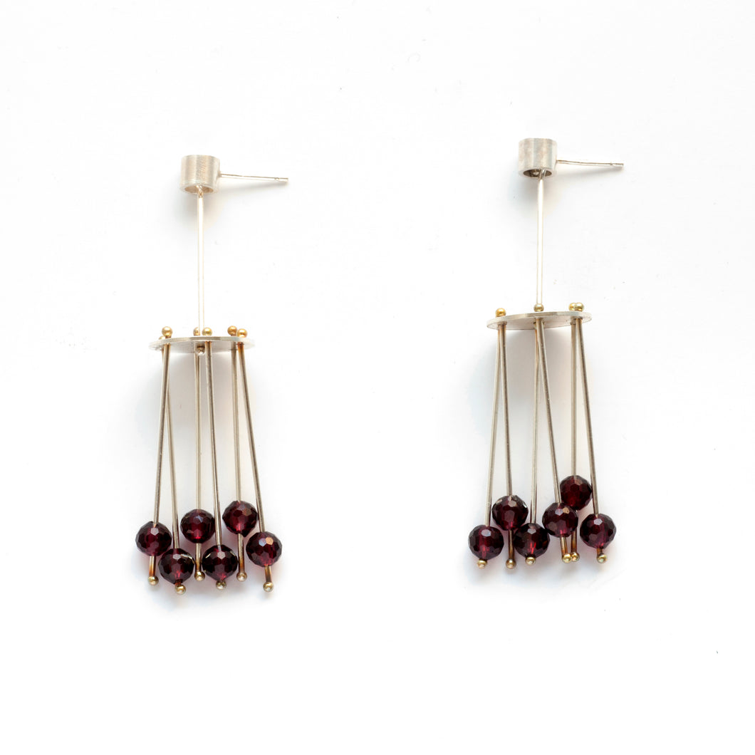 YD29PE - Jellyfish Earrings with hanging beads, post