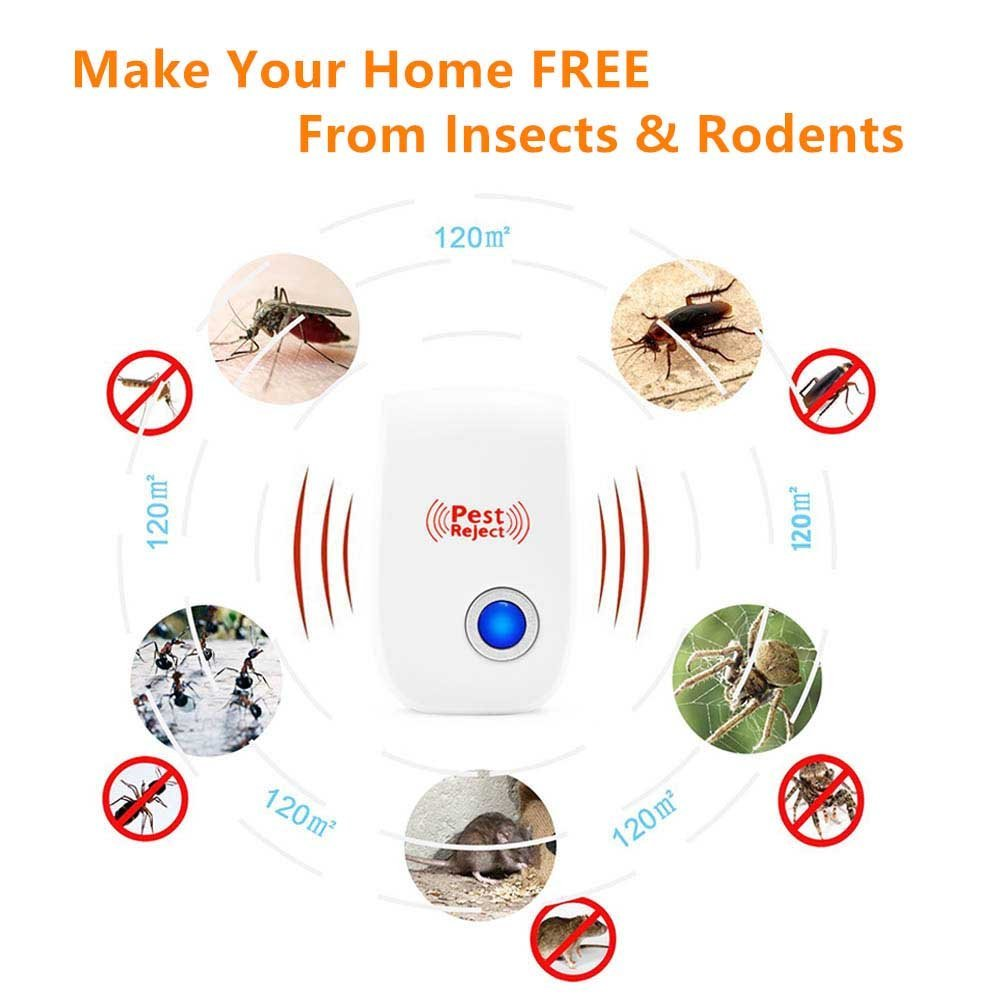 Ultrasonic Pest Repeller 2 Pack Control Repellent Reject Plug In For Insects Miixbest