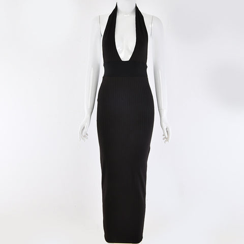 Halter Backless Plunge Dress - Men's Modern Wear