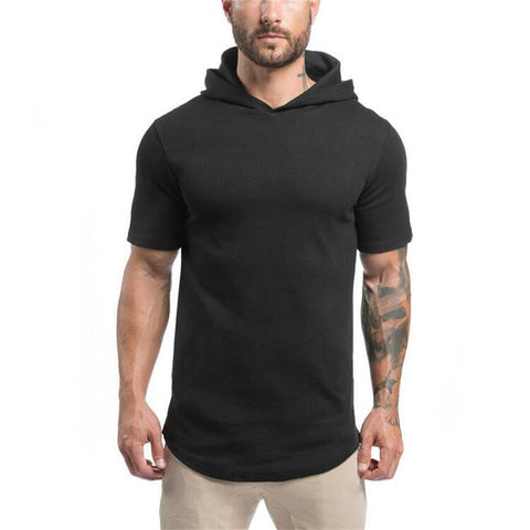 Mens Shorts sleeve Bodybuilding Hoodies
