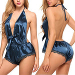 Sexy Women's Sleepwear Satin Pajama Set