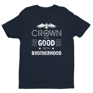 Men's Crown thy Good with Brotherhood Black Crew Neck Short Sleeve T-Shirt