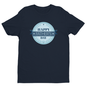 Happy Father's Day Midnight Navy Crew Neck Short Sleeve T-Shirt