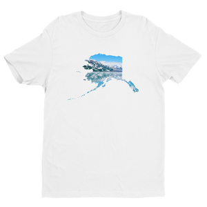 White Alaska the Beautiful (scenic) Men's Short-Sleeve Crew Neck T-Shirt