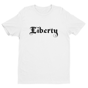 Men's Liberty White Crew Neck Short Sleeve T-Shirt