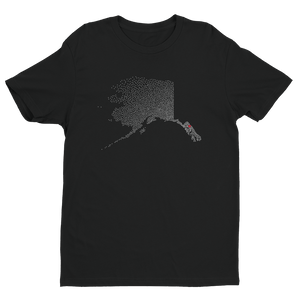 Men's Alaska Black Crew Neck Short Sleeve T-Shirt