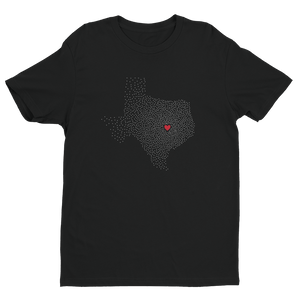 Men's Texas Black Crew Neck Short Sleeve T-Shirt