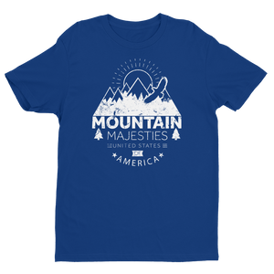 Men's Mountain Majesty Black Crew Neck Short Sleeve T-Shirt