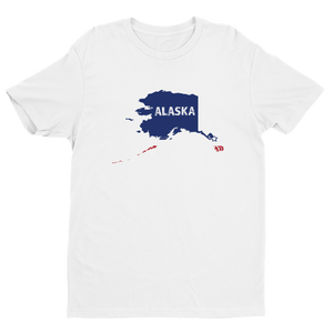 Men's Alaska USA White Crew Neck Short Sleeve T-Shirt