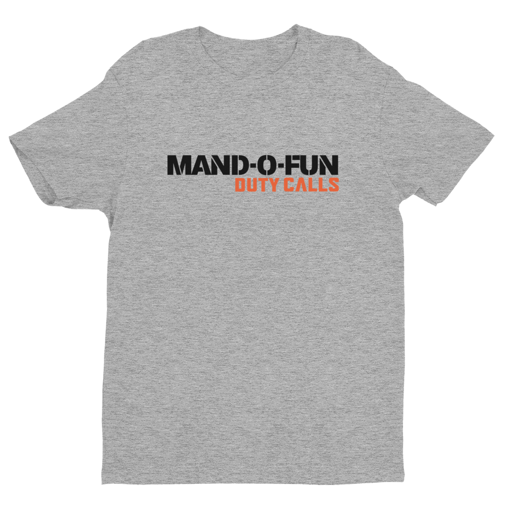 Men's Mand-O-Fun Duty Calls White Crew Neck Short Sleeve T-Shirt