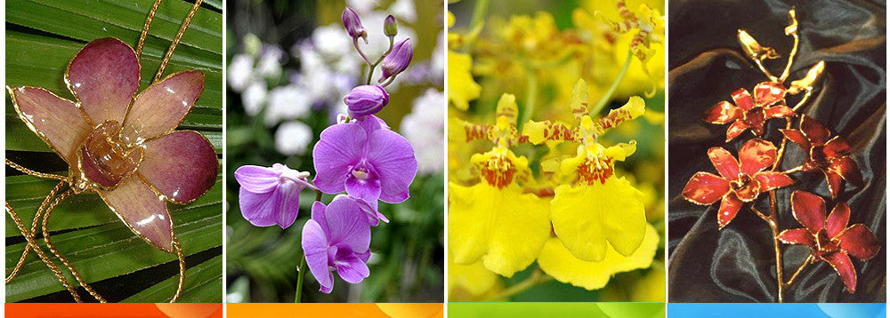 real flower jewelry , real orchid jewelry wholesale manufacture exporter thailand usa worldwide