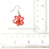 Aerides Odorata Orchid Jewelry Earring (Red)