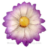Chrysanthemum Daisy Mum Flower Jewelry pendant (White Purple)