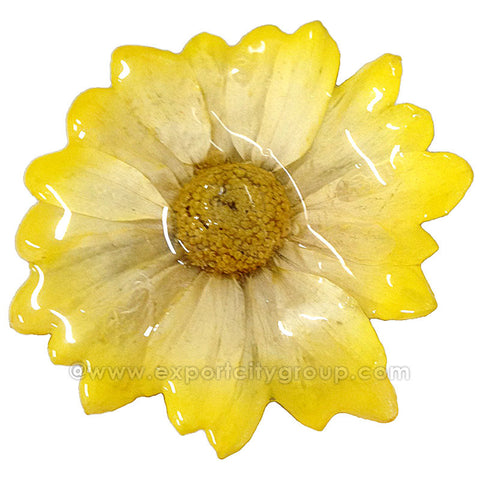 Chrysanthemum Daisy Mum Flower Jewelry pendant (Yellow)