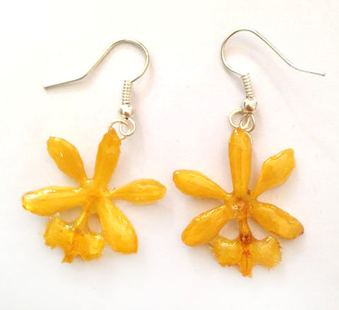 Epidendrum Orchid Jewelry Earring (Yellow)