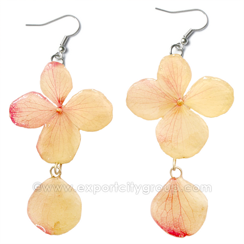 Hydrangea Flower Jewelry Earring (Off White)
