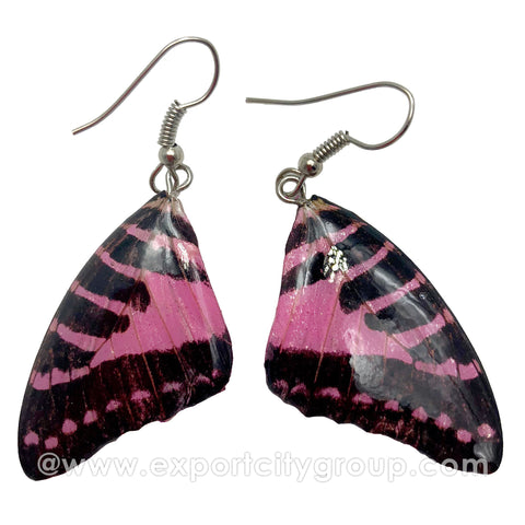 Real Butterfly Wings Jewelry Earring - Graphium (Pink)
