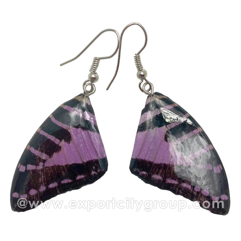 Real Butterfly Wings Jewelry Earring - Graphium (Purple)