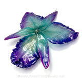 "Cattleya Sakura ""JUMBO"" 5-6 inches Orchid Jewelry Pendant (Purple/Blue)"