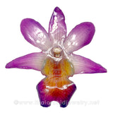 Dendrobium FORMOSUM Orchid PENDANT for DIY jewelry - PURPLE