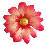 Chrysanthemum Daisy Mum Flower Jewelry pendant (Red)
