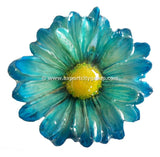 Chrysanthemum Daisy Mum Flower Jewelry pendant (Blue)